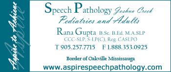 Aspire Speech Pathology - Speech Language Pathologist in Oakville, speech therapist.