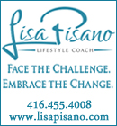 Lisa Pisano. Lifestyle Coach. Personal Trainer and Nutrition and Wellness Specialist in Oakville.