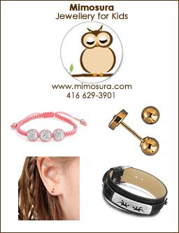 Mimosura Jewellery for Kids www.mimosura.com - 416 629-3901